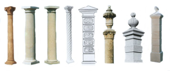 Outdoor garden gazebos with Greek and Roman columns